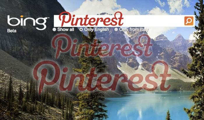 Bing & Pinterest