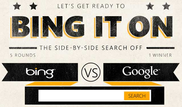 Bing insegue e devia dalla rotta di Google