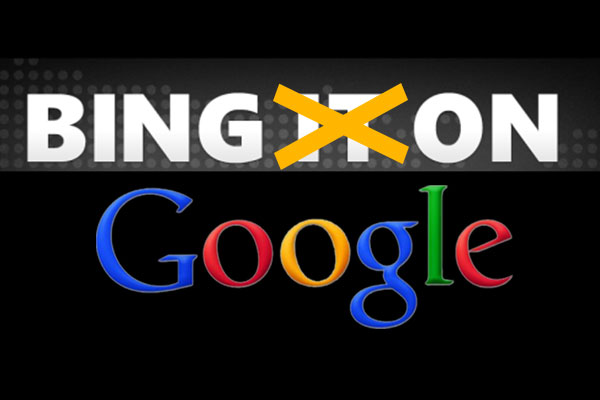 Bing dentro Google