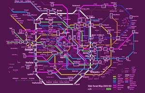 Struttura di navigazione come la mappa di una metropolitana