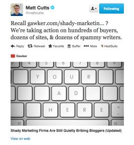 Matt Cutts sulla corruzione dei bloggers
