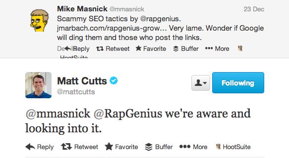 Matt Cutts risponde alla denuncia