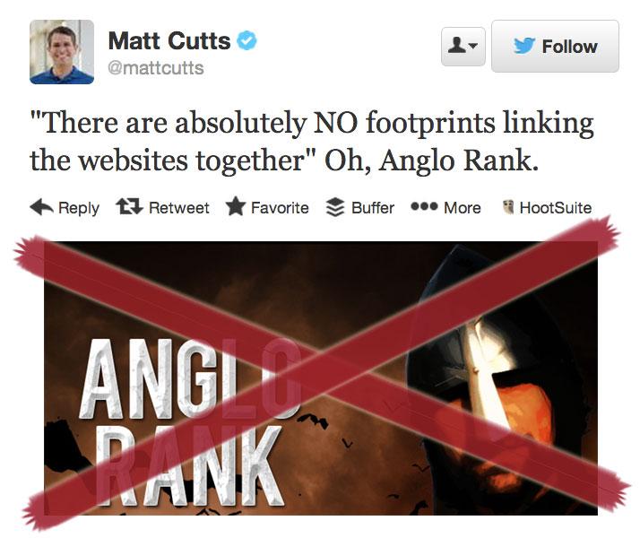 Matt Cutt su Anglo Rank