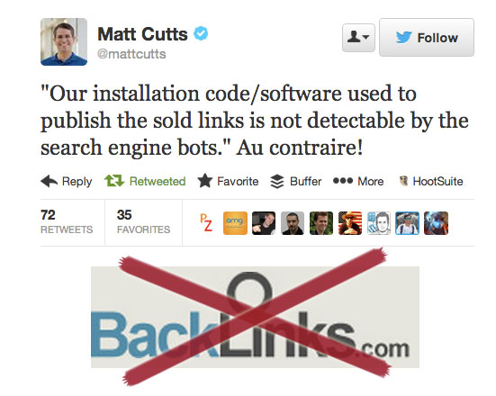 Backlinks.com è fuori gioco!
