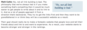 Matt Cutts sul link building