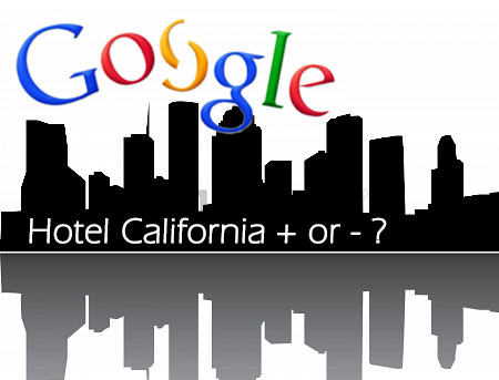 Profili di alberghi su G+ attaccati