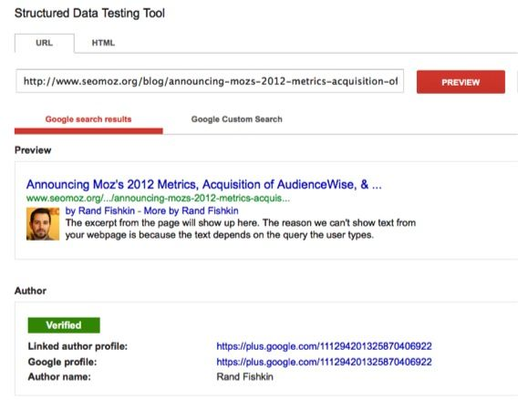Moz testing authorship