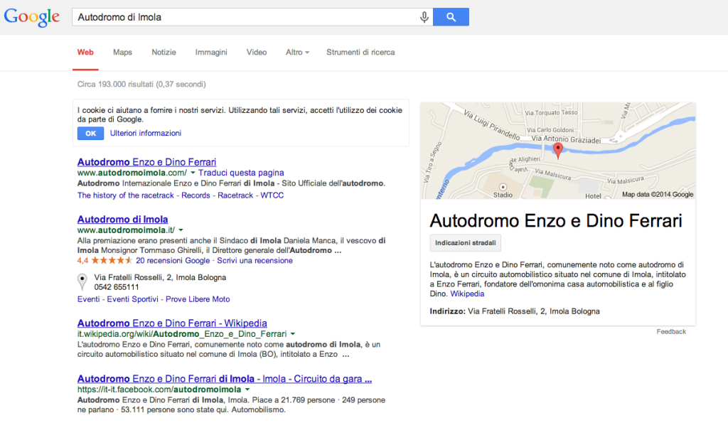 Knowledge Graph su Autodromo di Imola