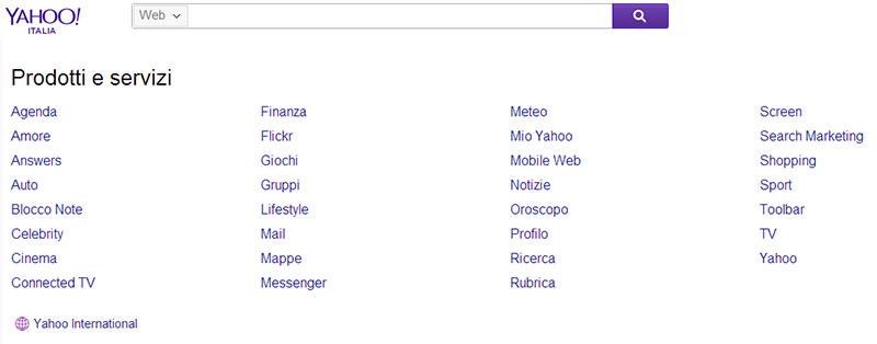 La ricerca verticale di Yahoo!