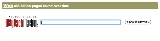 La macchina del tempo del web