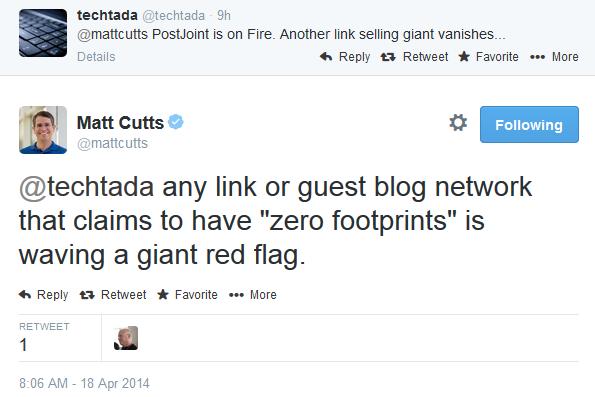 Matt Cutts sul guest blogging di Postjoint