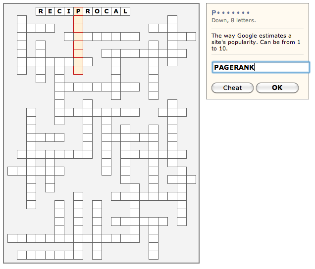 SEO Crosswords