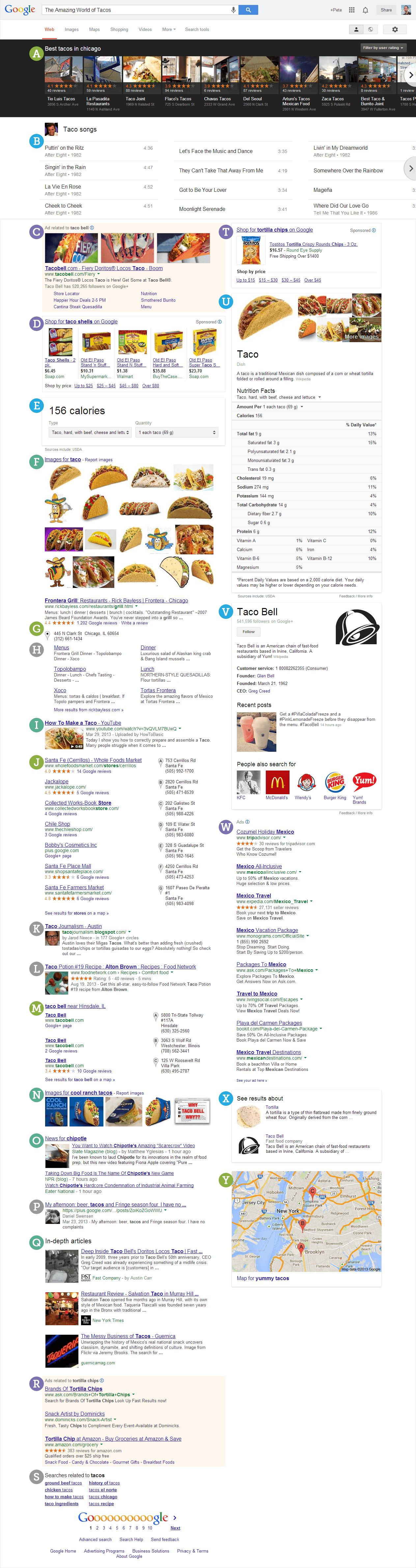 Una mega SERP di Google