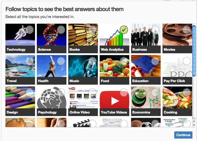 Le categorie di Quora