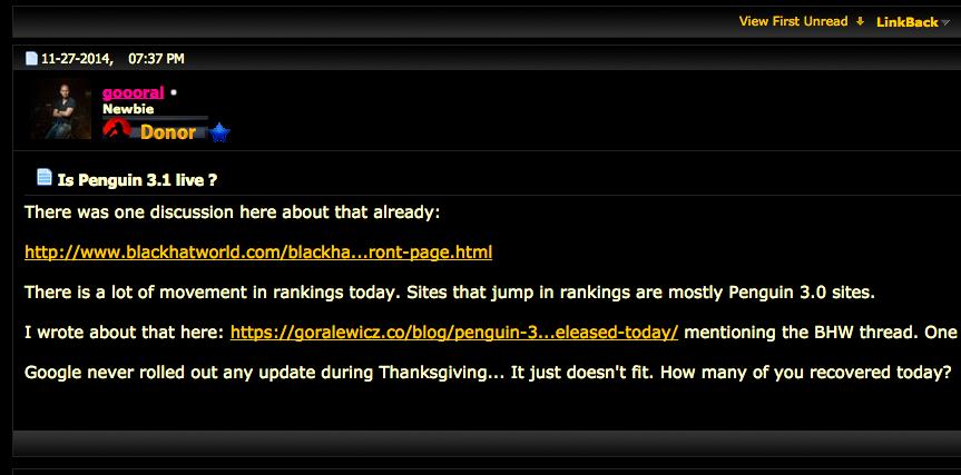 Black Hat Forum sul Pengin 3.1