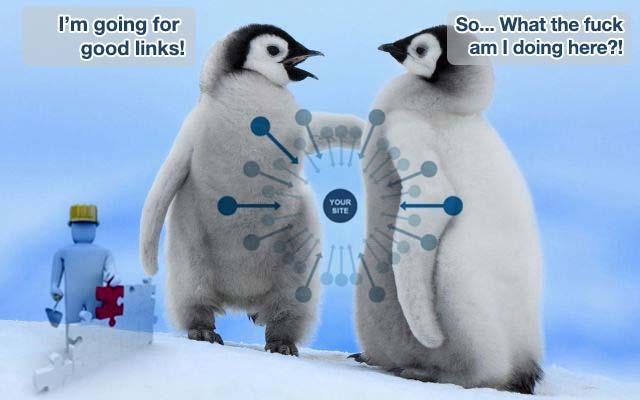 Il Pinguino rileva anche i link di qualità