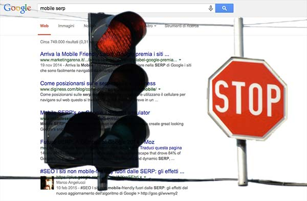 Semaforo sulle SERP di Google