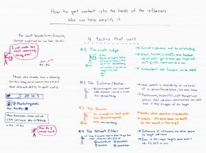 Come portare i tuoi contenuti nelle mani degli influencers