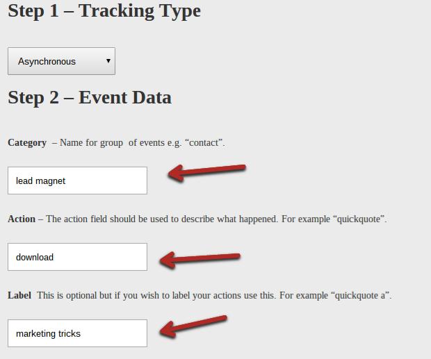 Generatore visuale di tracking code